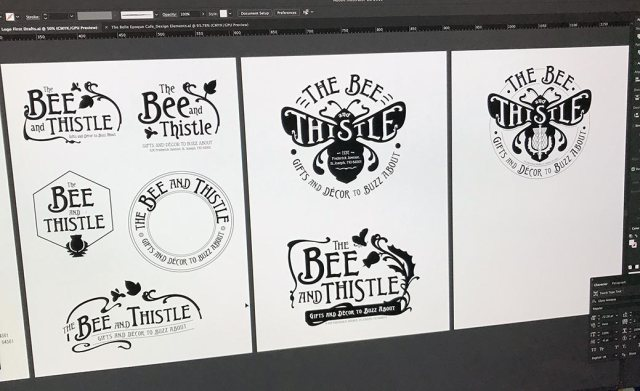 The Bee and Thistle Art Deco Logo