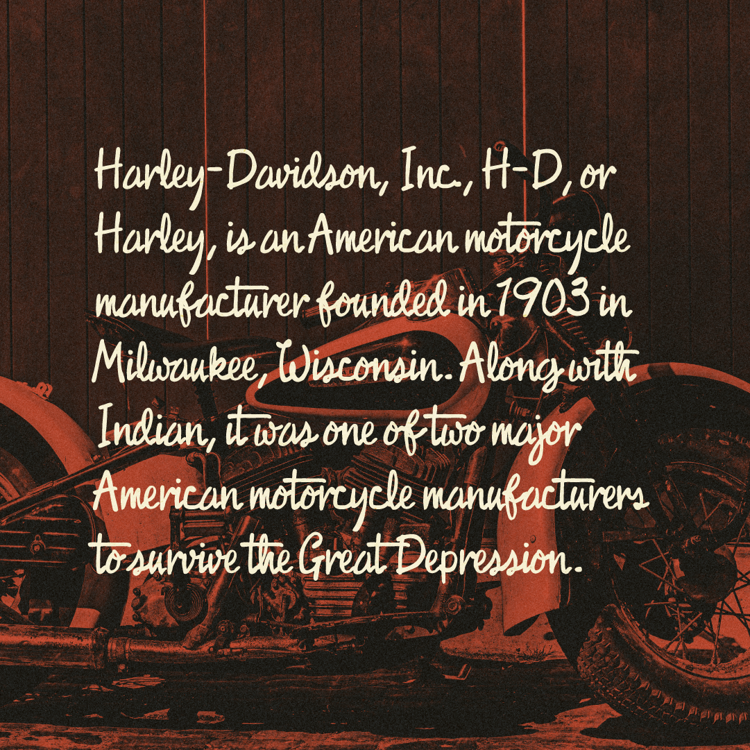Harley Davidson Motorcycle description