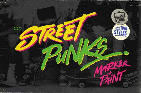Street Punks Brush Marker Font by Wingsart Studio - Free Download