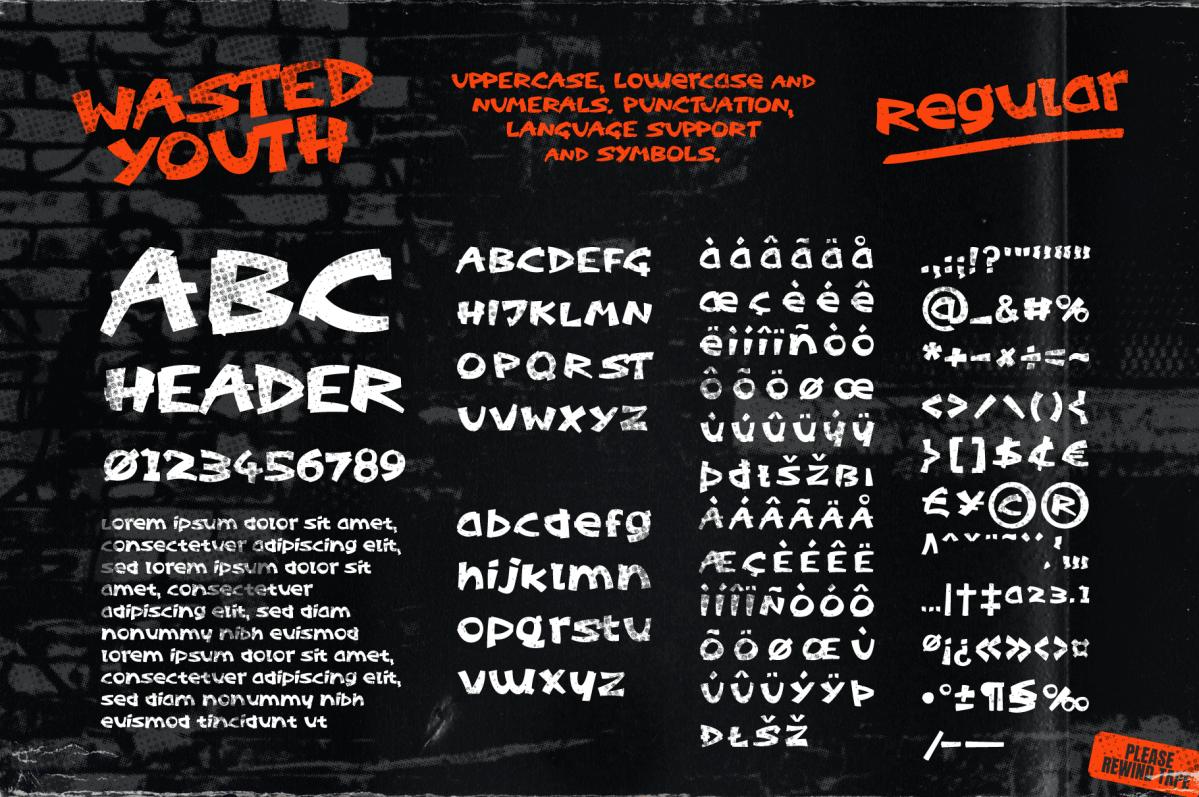 Regular font with ligatures