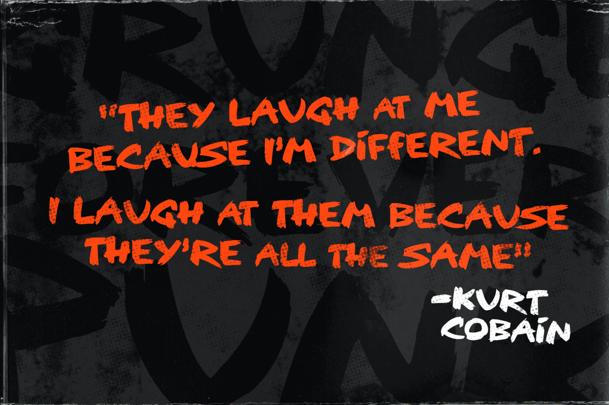 Kurt Cobain Quote - Design by Christopher King
