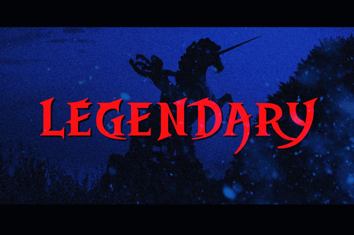 Legend style fonts