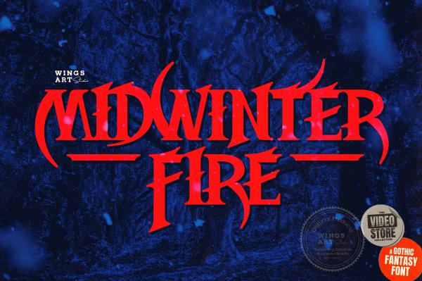 Widwinter Fire: A Gothic Fantasy Font by Wingsart Studio