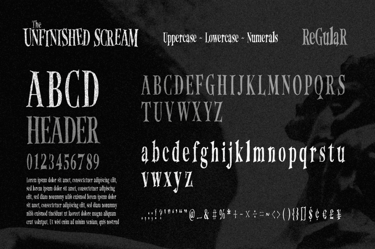 The Unfinished Scream: Halloween Hand-Drawn Serif Font (Free Font Download)