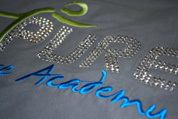 embroidery with crystals