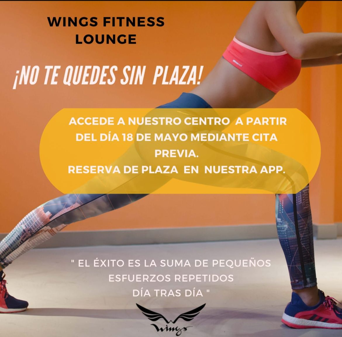 Reserva plaza - WingsFitness Lounge