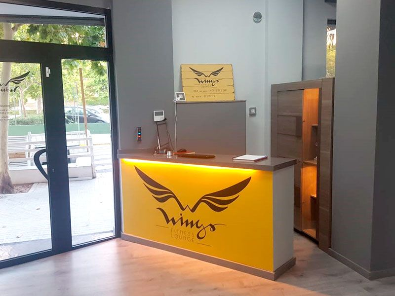 Recepción - Gimnasio Wings Fitness Valterna