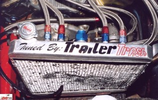 Rod Rothgarn's radiator decal Tuned by Trailer Trash
