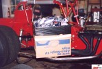 Aluminum beer cans helped add right side weight to Rod Rothgarn's supermodified