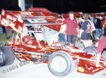 Fans talk to Pat Abold crew member after 1994 ISMA exhibition at Indianapolis Raceway Park