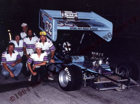 Danny Soule and the Soule Racing crew ready to roll for 1994 ISMA Hy-Miler Supermodified Nationals