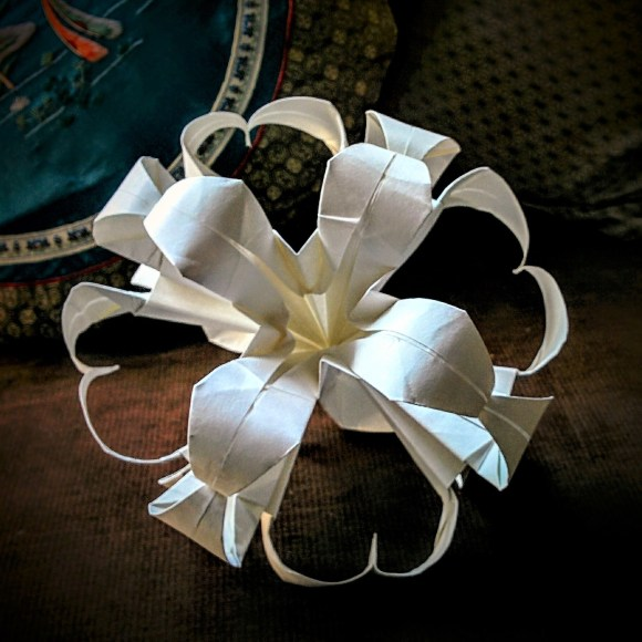 Lilies incorporated into a kusudama