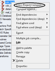 cross-project-compare-option-in-datastage