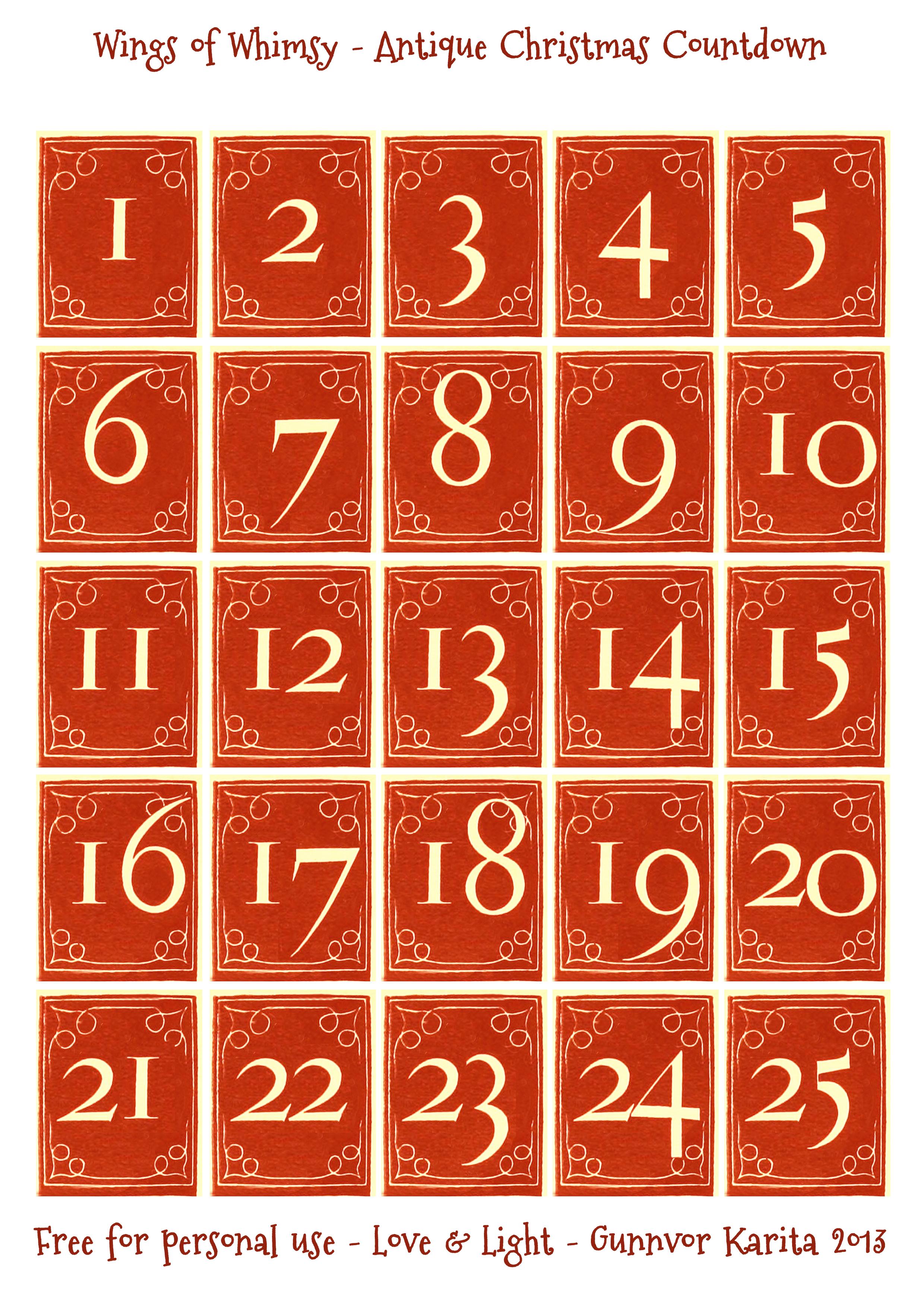 Vintage Christmas Village Day 2 3 4 Free Printables
