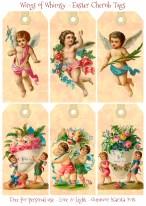 Wings of Whimsy: Victorian Easter Cherub Tags #vintage #ephemera #freebie #printable #easter #tags