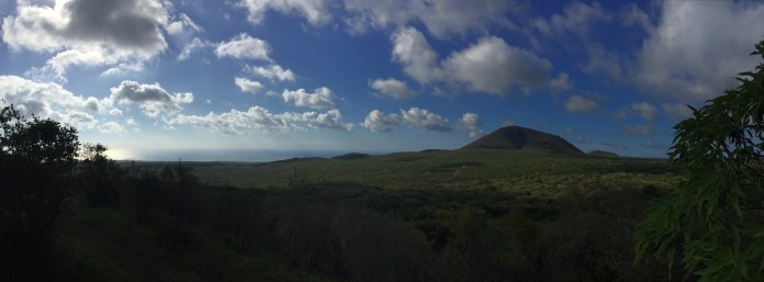 The volcanoes of Isla Floreana.