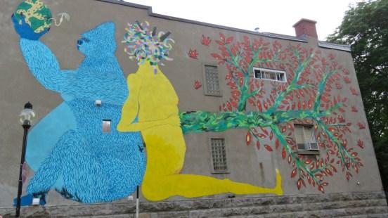 Street art near Ave Mont-Royal