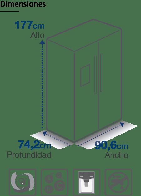 Refrigerador Side by Side FRS-ZB555NC