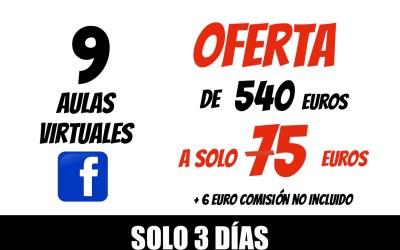 COBRO TARJETA O PAY PAL 9 AULAS VIRTUAL XAVIER GARCIA 75€ + 6€ COMISIÓN