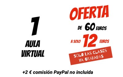 COBRO TARJETA O PAY PAL AULA VIRTUAL XAVIER GARCIA  12 € +2 COMISION