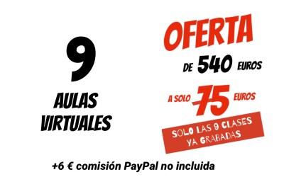 COBRO PAYPAL 0 TARJETA 9 AULAS VIRTUAL XAVIER GARCIA 75€ + 6€ COMISIÓN