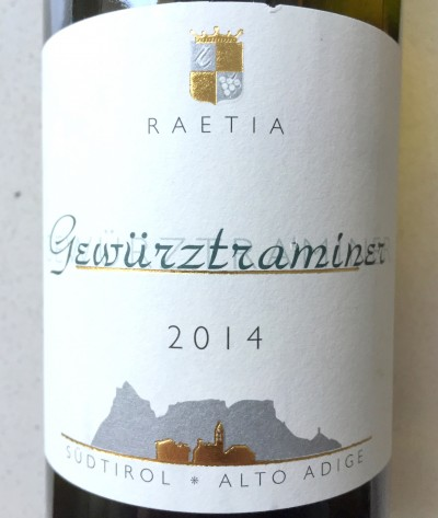 Alto Adige Gewurztraminer Raetia 2014