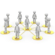 An illustration of the concept of Networking, utilized in a discussion of making contacts in the video game industry. Included in the article by BAFTA-nominated video game composer Winifred Phillips.