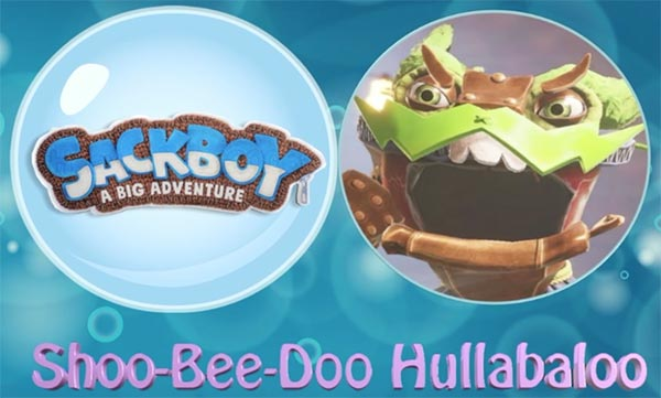 The Shoo-Bee-Doo Hullabaloo music from Sackboy: A Big Adventure is iconically depicted here, illustrating the article by Winifred Phillips (video game composer).