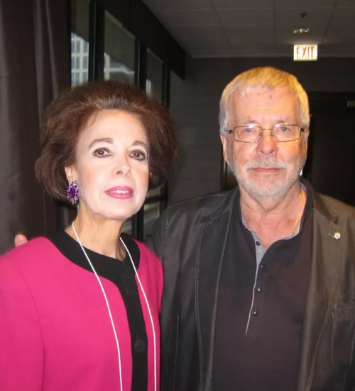 Winifred with Dr. Robert D Hare, world renowned for developing the psychopathy checklist