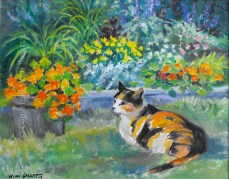Callie in the Garden by Wini Smart
