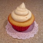 Peaches and Cream Cupcake