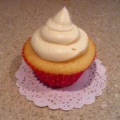 Peaches and Cream Cupcake