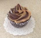 Vegan Chocolate Cupcake with Chocolate Fudge & Peanut Butter Frosting