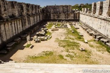 Patio del templo de Apolo. Didim
