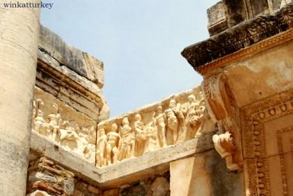 Detalle del templo de Adriano