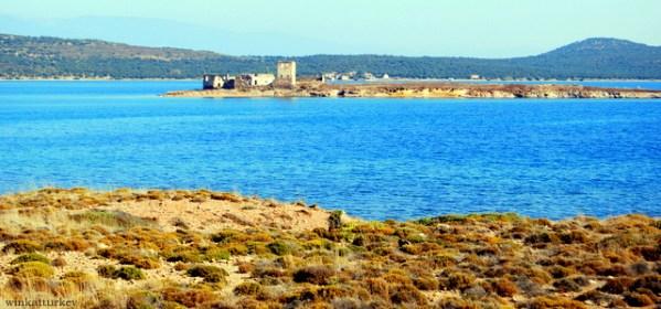 Vista desde la playa de Biyikli