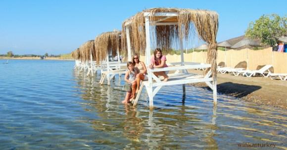Típicas casetas turcas en la playa