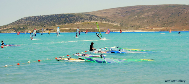 Area dedicada a las clases de windsurf