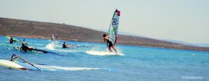Hay varias zonas de práctica del windsurf, según tu nivel.