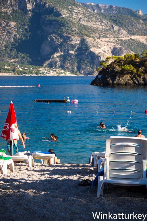 Playa de la Laguna Azul. Lado mediterráneo.