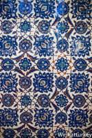 Detalle de azulejos de Iznik