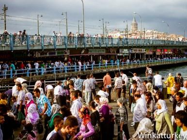 Puente Gálata un día de Kurban Bayram
