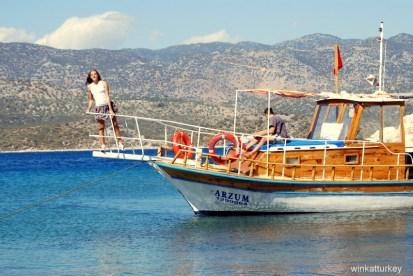 Barco alquilado en Kekova