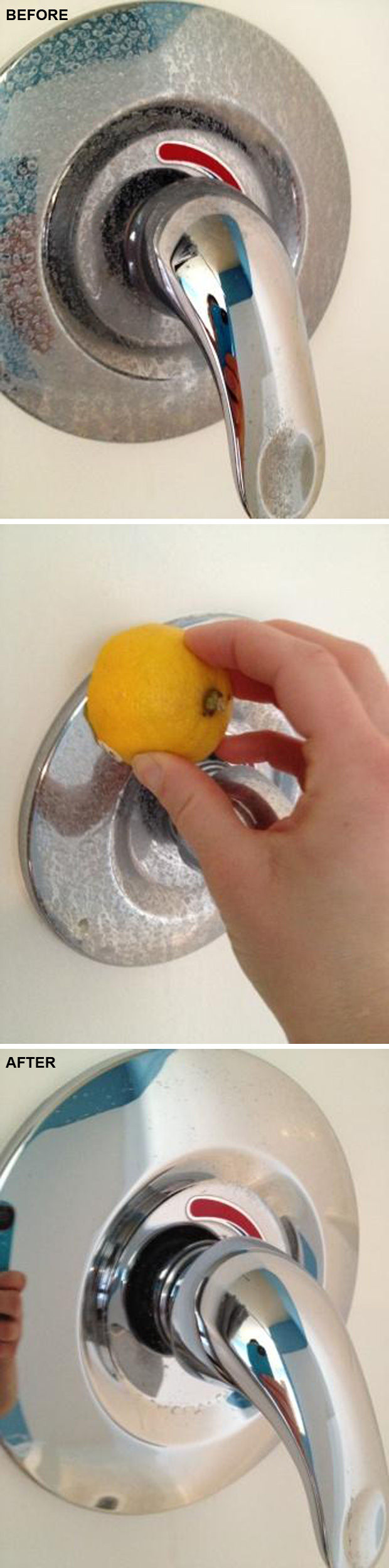 13 Home Cleaning Tips Using Normal Household Ingredients - Use lemons to help remove rust and hard water stains