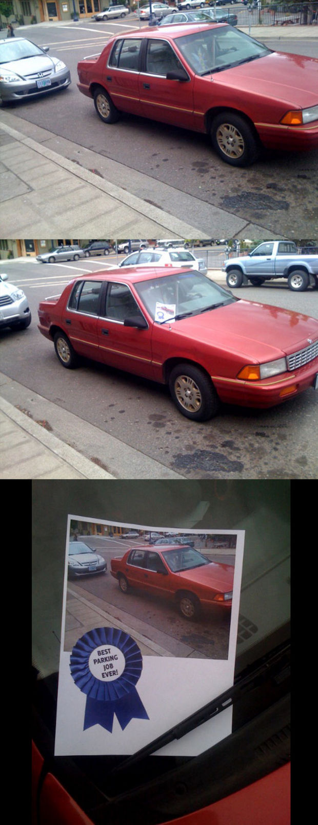 22 Bad Parking Jobs - Best parking job ever award.