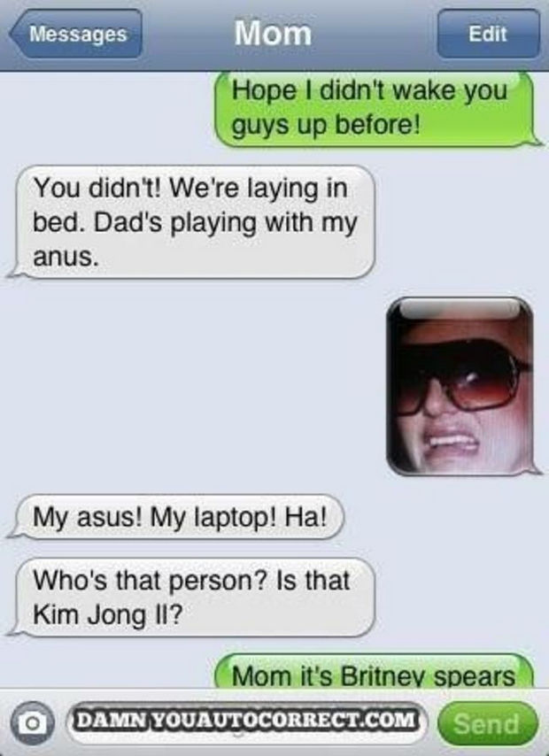 17 Funny Texts from Parents - I could see the resemblance.