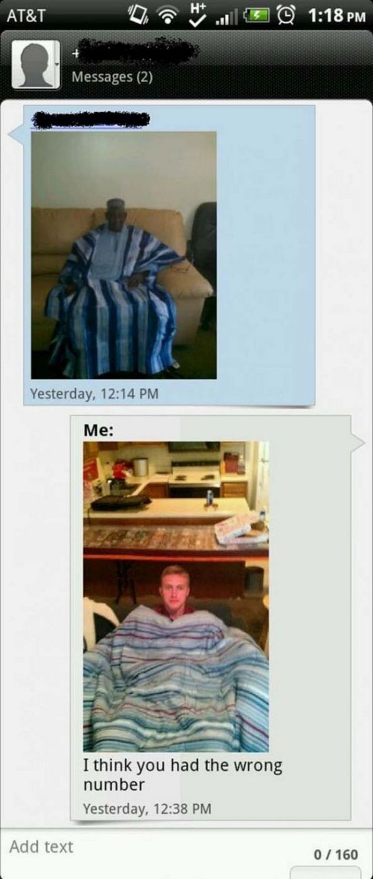 16 Funny Wrong Number Texts - Nice blanket.