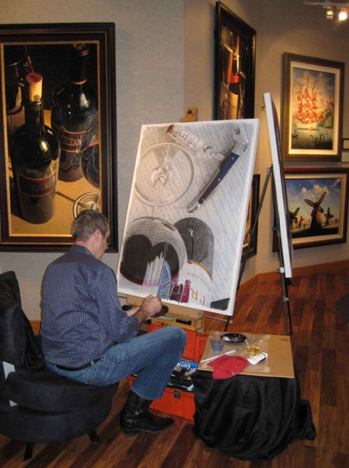 25 Amazingly Realistic Art Paintings - Thomas Arvid - Limited edition Giclée on canvas.