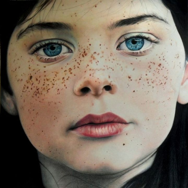 25 Amazingly Realistic Art Paintings - Amy Robins - Colored pencil on cartridge paper.