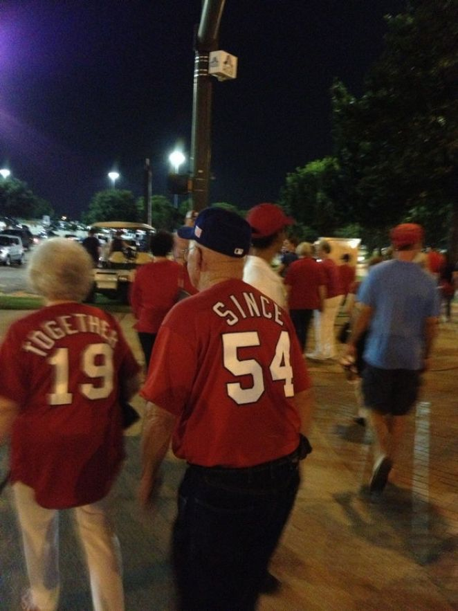 Elderly Couple's Matching Jerseys Delighted Fans at Rangers Game